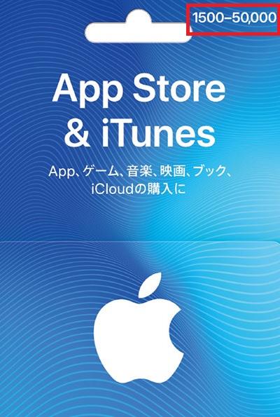 iTunesカードのバリアブルタイプ